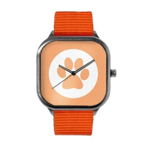 Peach Panther Paw Print Watch