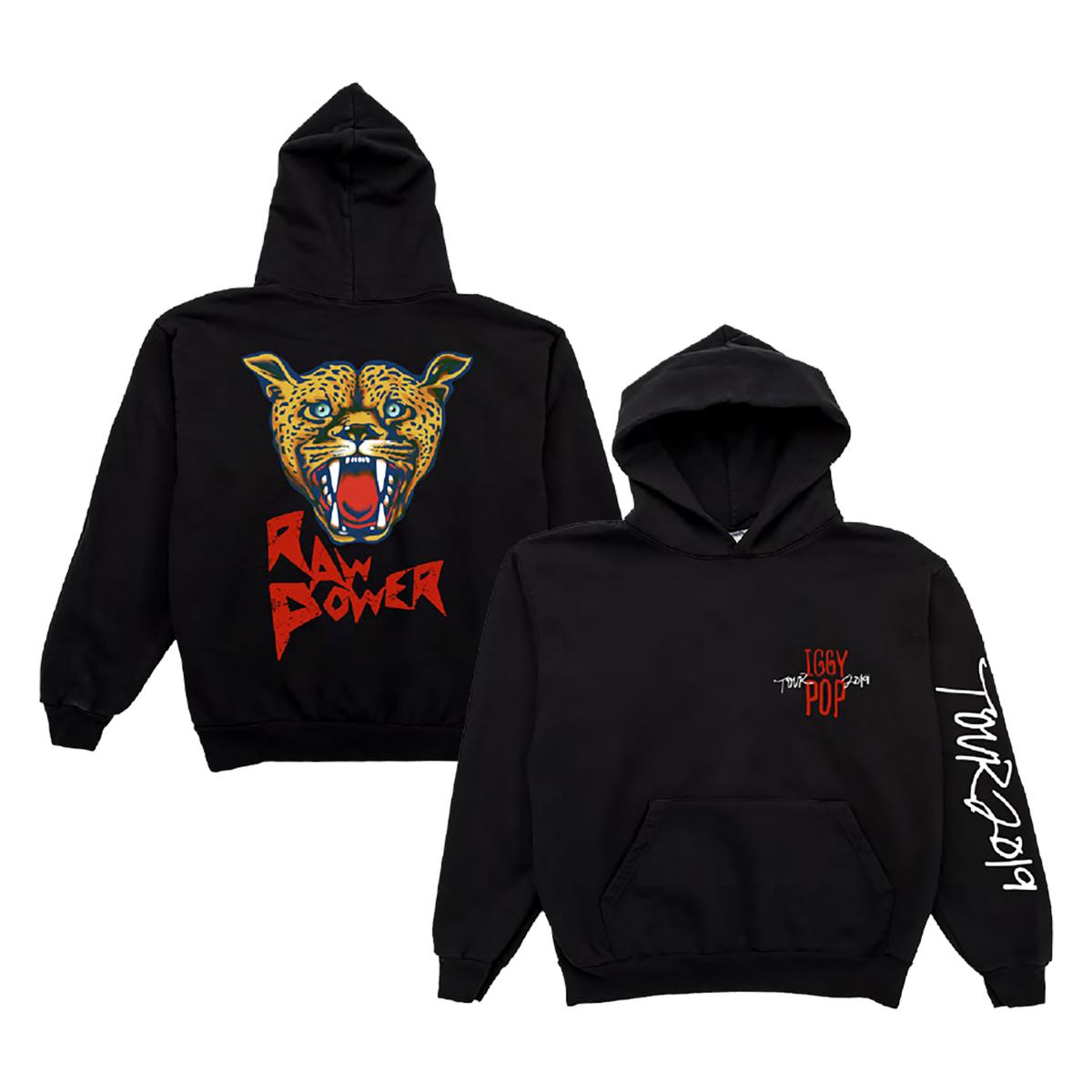 Iggy Pop 2019 Tour Raw Power Hoodie