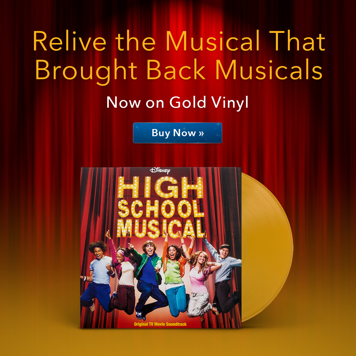 High School Musical: Now On Gold Vinyl!