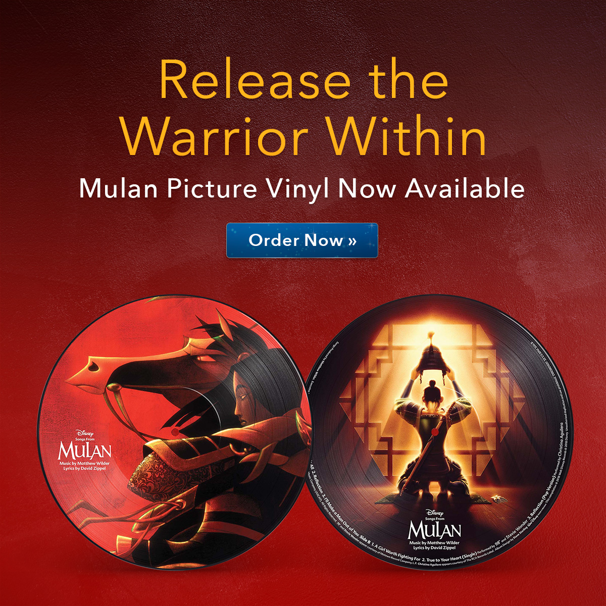 Mulan Pic Vinyl Now Available