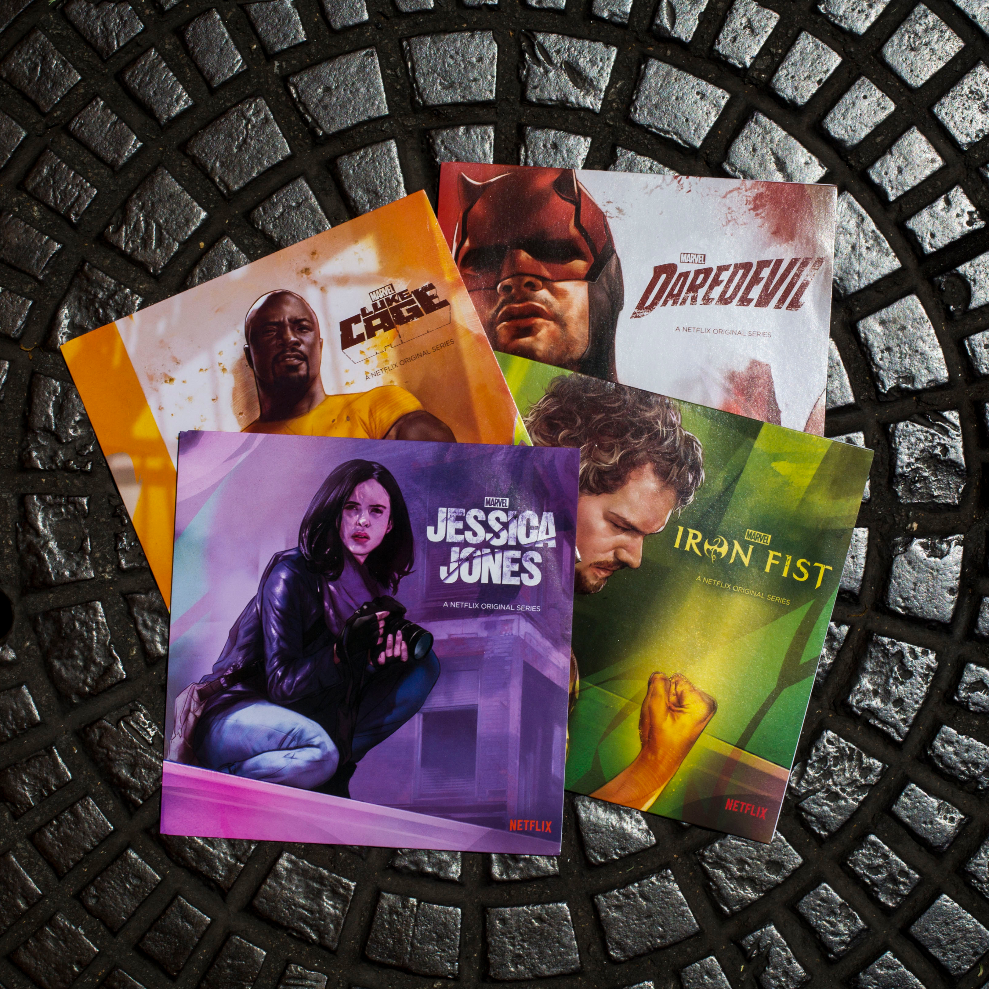 "Marvel Defenders 7"" Vinyl Disc Collection"