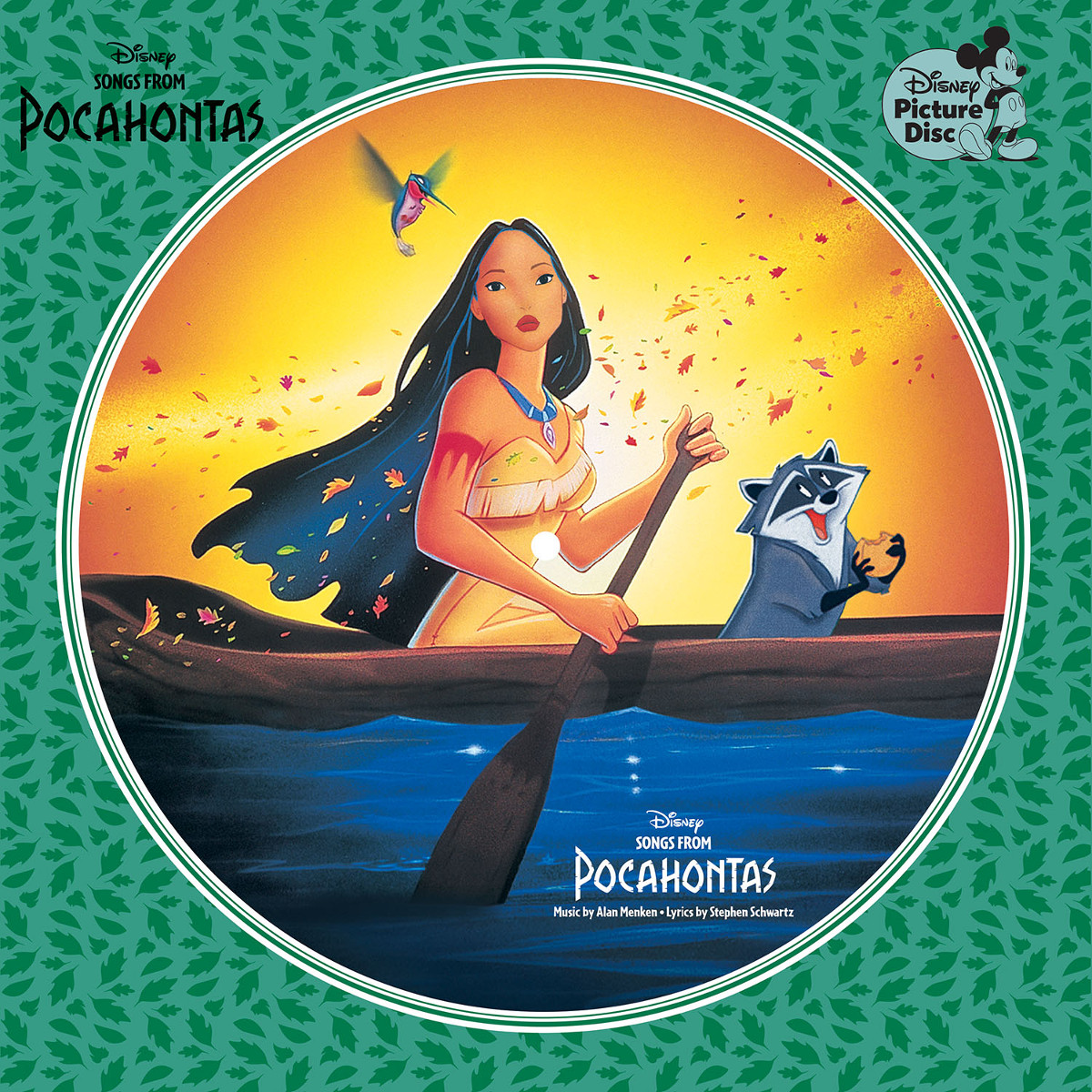 "Songs from Pocahontas 12"" Picture Disc – Various"