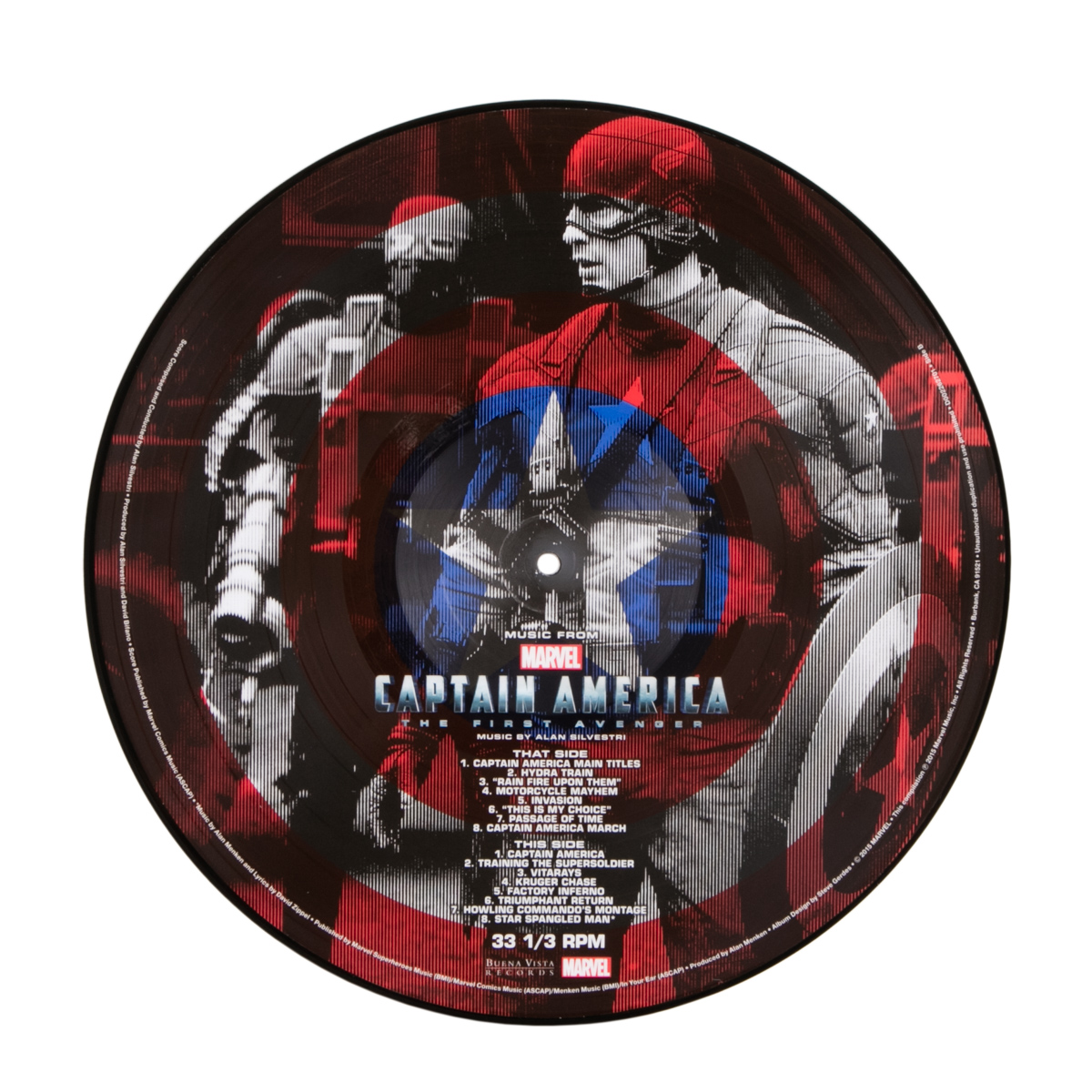 Music from Captain America: The First Avenger Vinyl Picture Disc