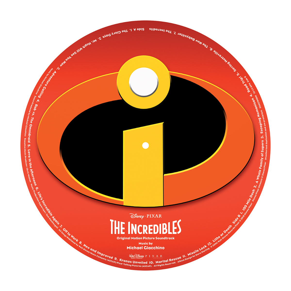The Incredibles Picture Vinyl
