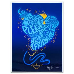Aladdin Lyric Lithograph