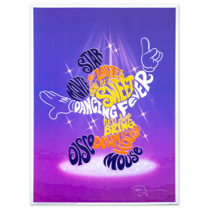 Mickey Mouse Disco Lyric Lithograph