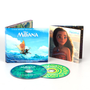 Moana Deluxe Edition Soundtrack and Lithograph