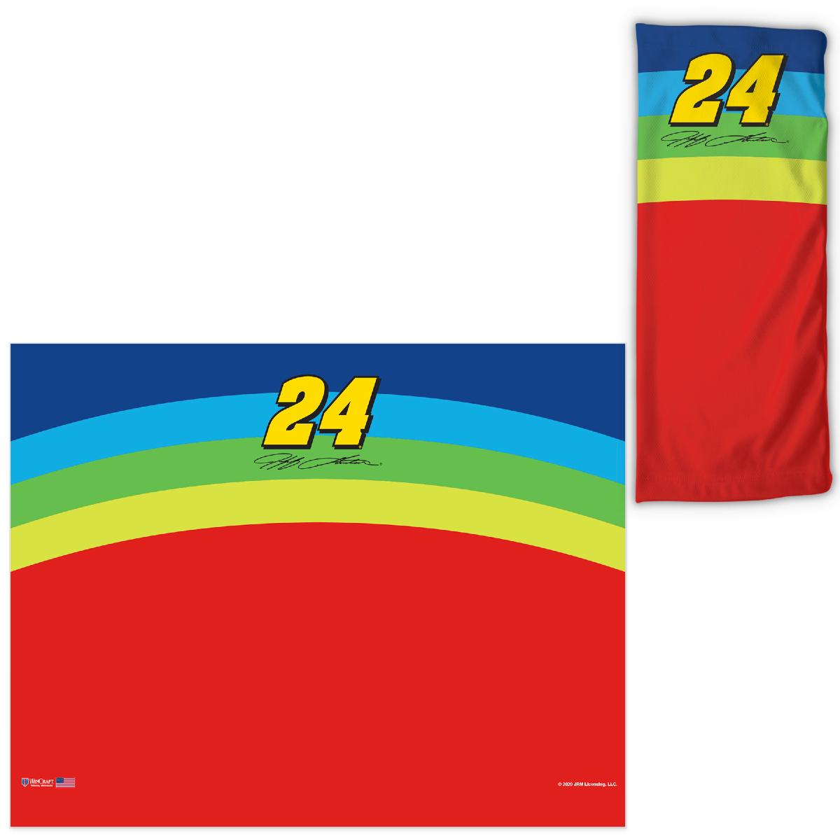 Jeff Gordon Neck Gaiter 3-Pack – Rainbow, Flames & 24Ever