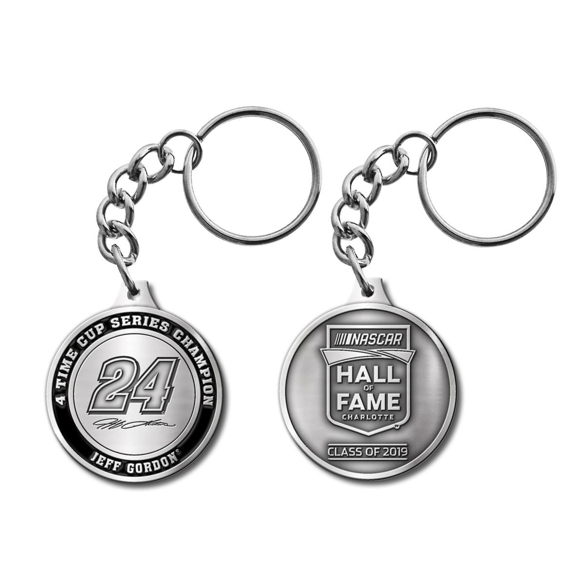 Jeff Gordon Store Exclusive 2019 NASCAR Hall of Fame Premium Pewter Keychain