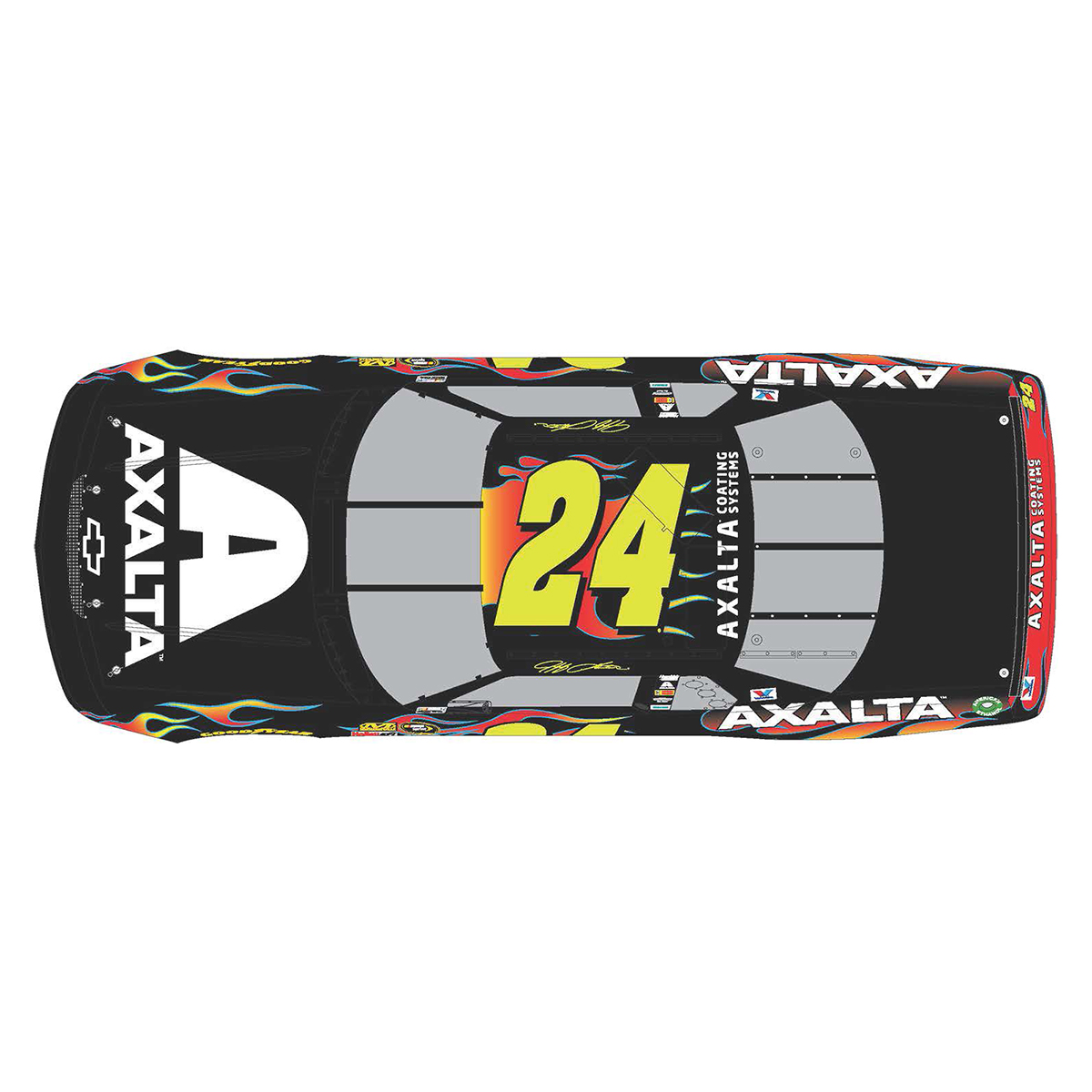 Autographed Jeff Gordon Store Exclusive Axalta Fantasy 1993 Chevrolet Lumina Galaxy 1:24 Scale ARC Die Cast