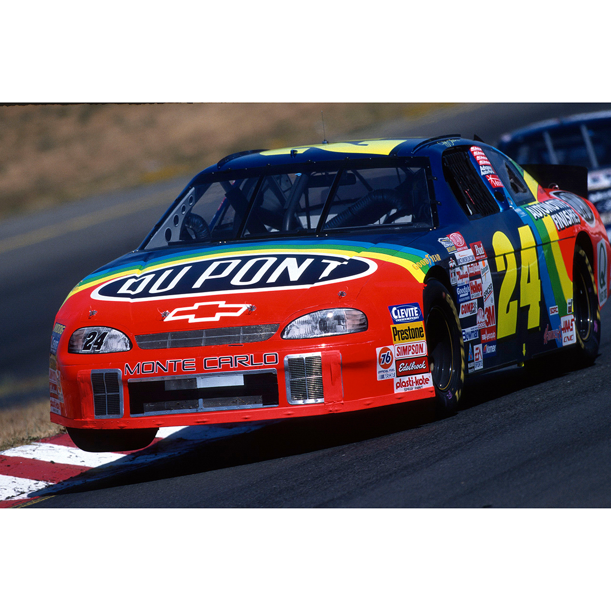 Dual Autographed Jeff Gordon / Ray Evernham 1999 #24 Sonoma Race Win 1:24 Scale Die Cast