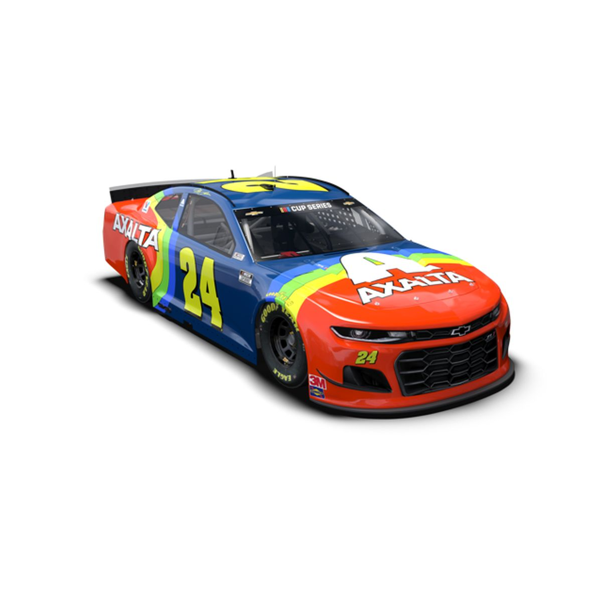 Jeff Gordon 2020 Axalta Rainbow iRacing North Wilkesboro #24 Color Chrome ARC 1:24 Scale Die Cast
