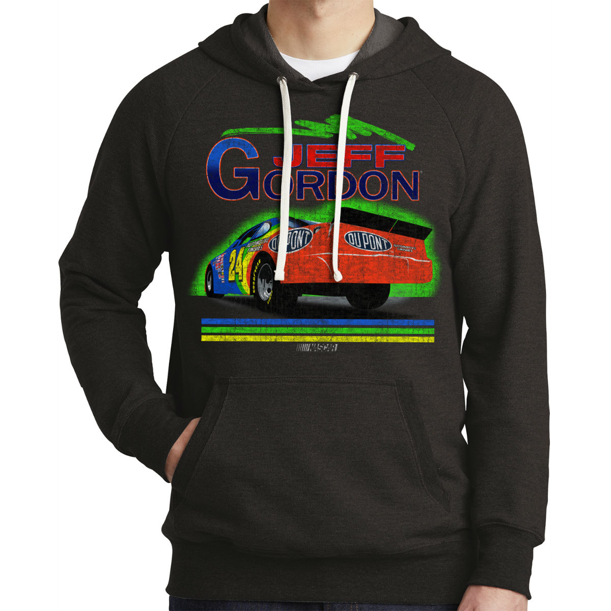 Vintage 1994 Jeff Gordon Rainbow #24 Tri-Blend Hoodie