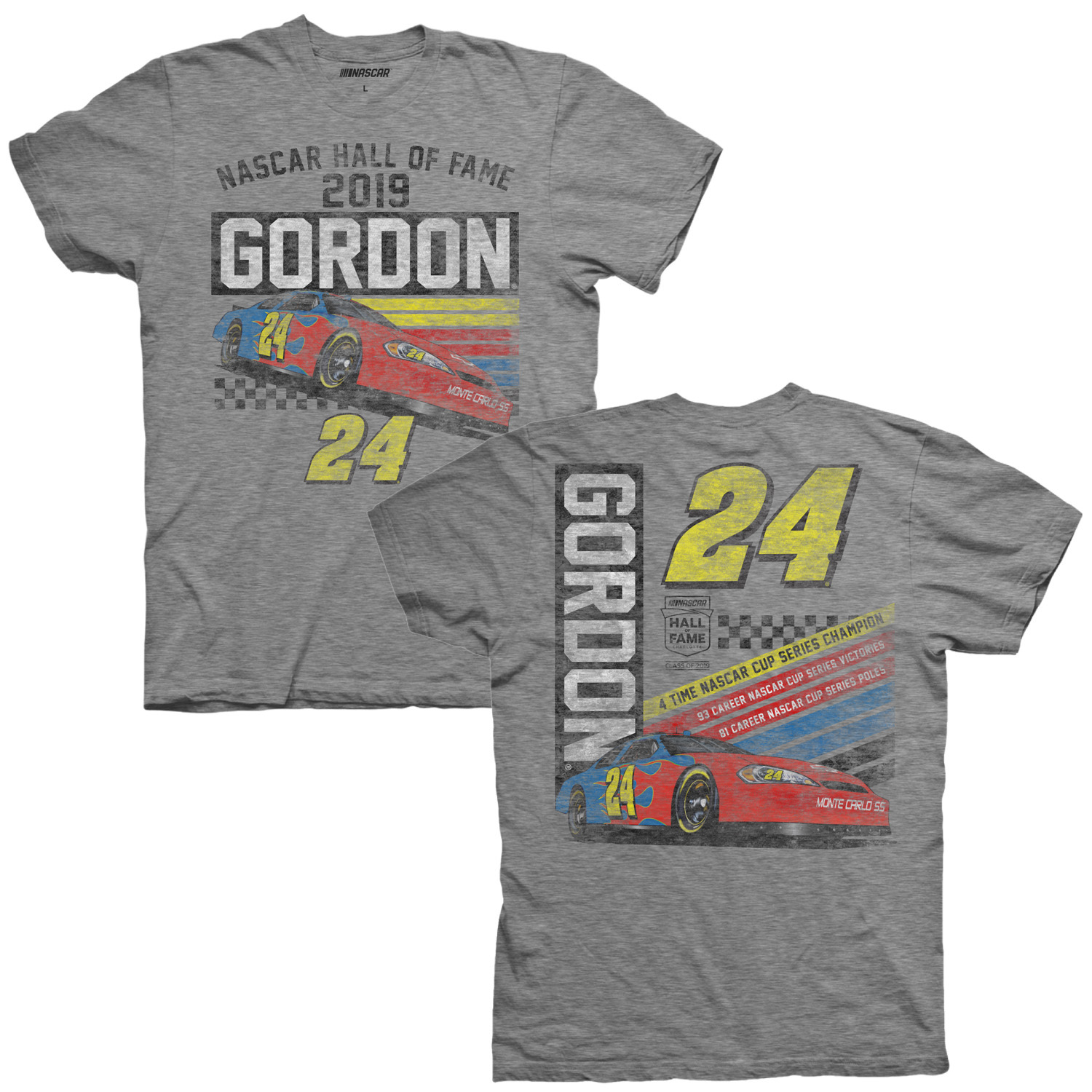 Jeff Gordon Store Exclusive 2019 NASCAR Hall of Fame Tri-Blend T-Shirt