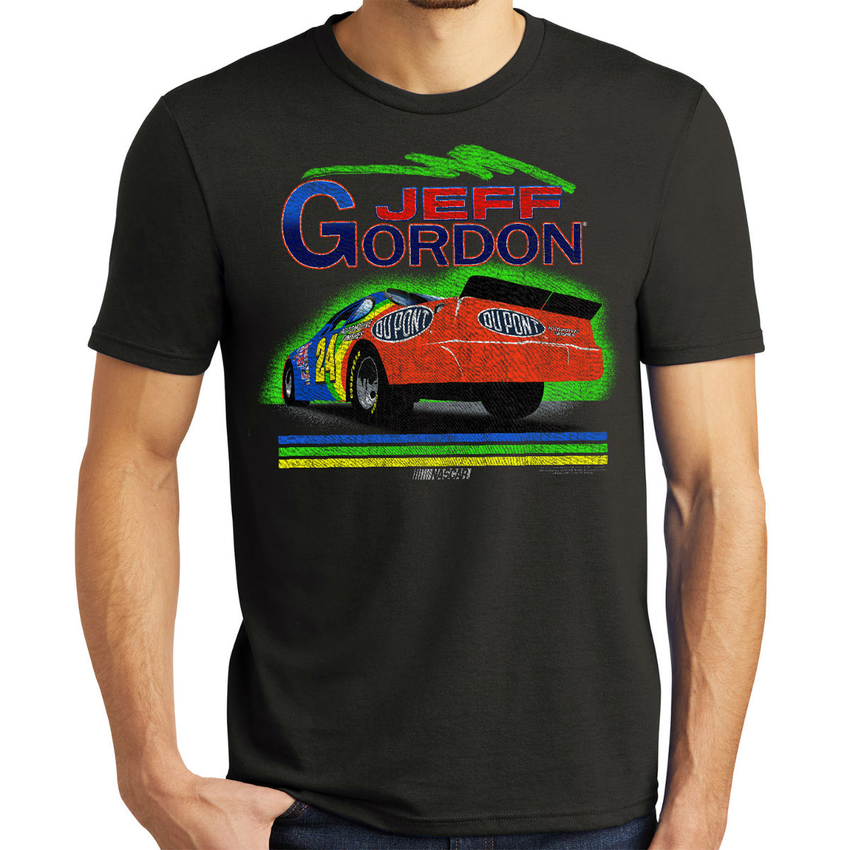Vintage 1994 Jeff Gordon Rainbow #24 Tri-Blend Shirt