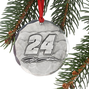 Jeff Gordon #24 Round Ornament