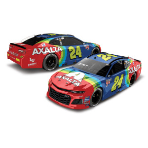 William Byron 2018 NASCAR No. 24 Axalta Rainbow Darlington Throwback HO 1:24 Die-Cast