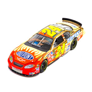 Autographed 2005 Jeff Gordon DuPont 24KT Gold 1:24 Scale Die Cast