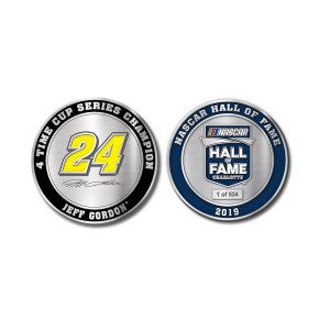 Jeff Gordon Store Exclusive 2019 NASCAR Hall of Fame Premium Collectable Coin