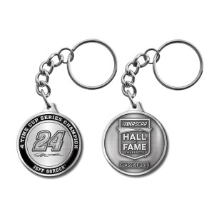 Jeff Gordon Store Exclusive 2019 NASCAR Hall of Fame Premium Pewter Keychain