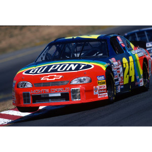 Dual Autographed Jeff Gordon / Ray Evernham 1999 #24 Sonoma Race Win Liquid Color 1:24 Scale Die Cast