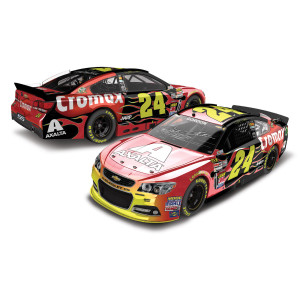 Autographed Jeff Gordon 2013 Axalta Cromax Dover #24 Color Chrome 1:24 Scale Die Cast