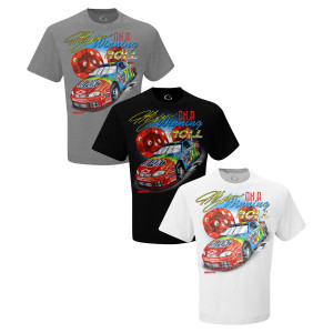 Retro 1998 Jeff Gordon On A Winning Roll Tri-Blend Tee