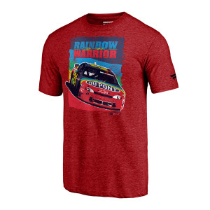 Vintage Jeff Gordon Rainbow Warrior  Tri-Blend T-Shirt