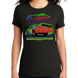 Vintage 1994 Jeff Gordon Rainbow #24 Ladies Tri-Blend Shirt