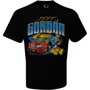 Jeff Gordon Vintage 1995 Rainbow Black T-Shirt