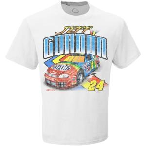 Jeff Gordon Vintage 1995 Rainbow White T-Shirt