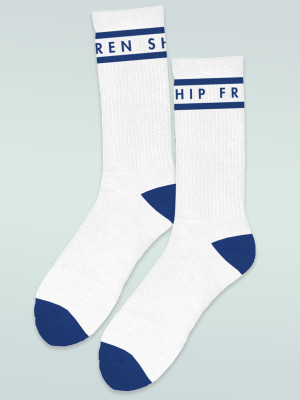 Frenship Crew Socks - White