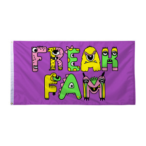 Freak Fam Flag - Purple