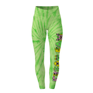 Freak Fam Sublimated Leggings- - Lime