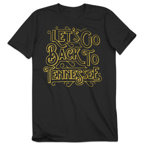 Vintage Black Back to Tennessee T-Shirt