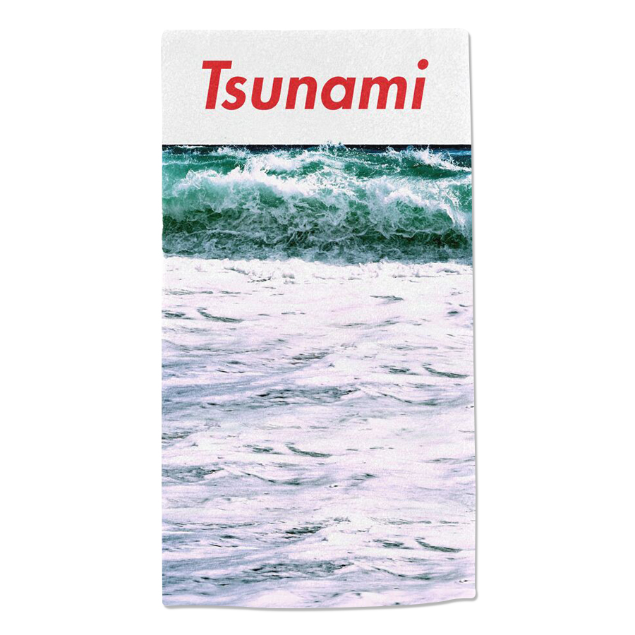 Tsunami Ocean Towel Red