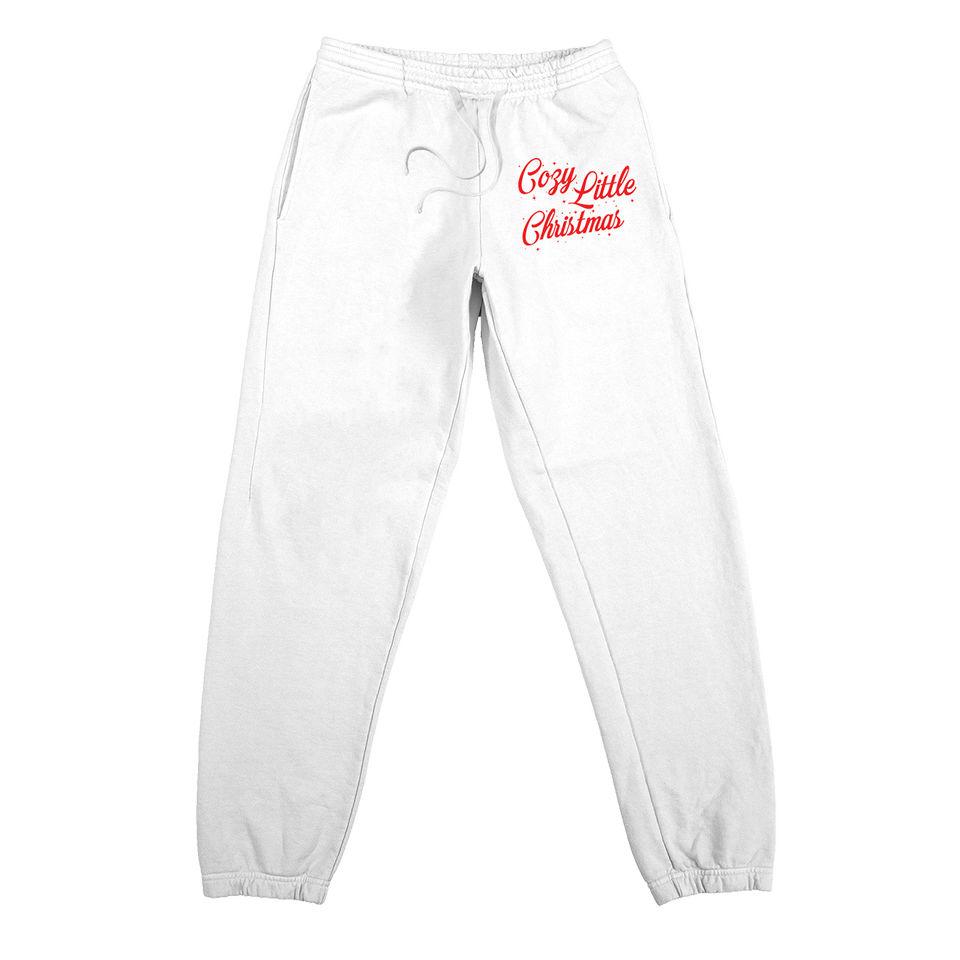 Cozy Little Christmas White Sweatpants