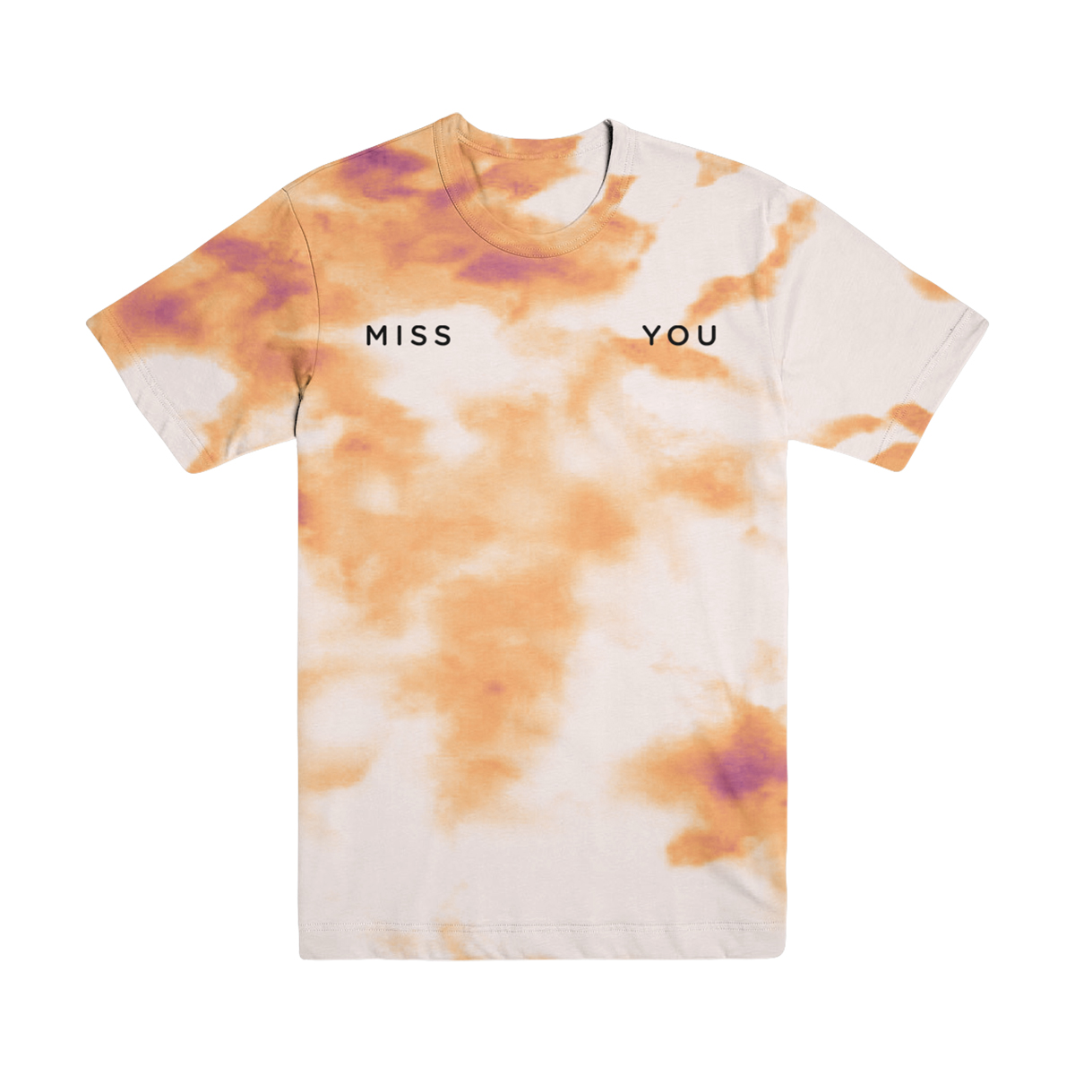 Miss You Embroidered Tie Dye T-Shirt