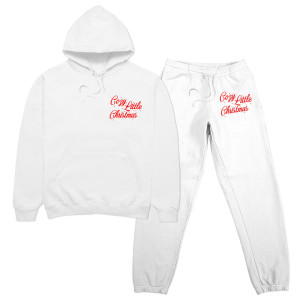 Cozy Little Christmas White Sweatpant Set