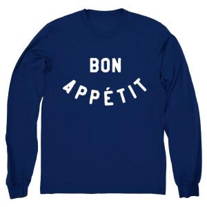 Blue Bon Appetit Crewneck