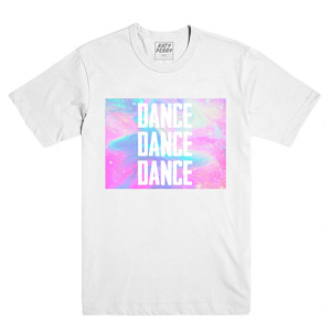 Katy Perry Dance Dance Dance White Short Sleeve T-shirt