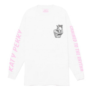 Katy Perry Chained White Long Sleeve T-shirt
