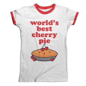 World's Best White Red Ringer T-Shirt