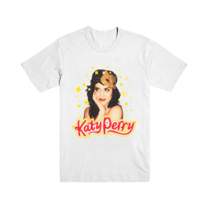 Katy Perry White Kitty Mask T-Shirt