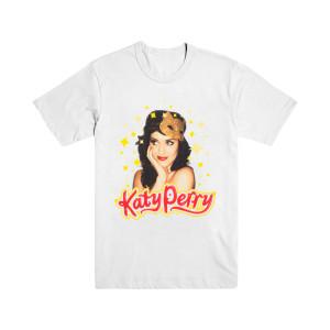 Katy Perry White Kitty Mask T-Shirt