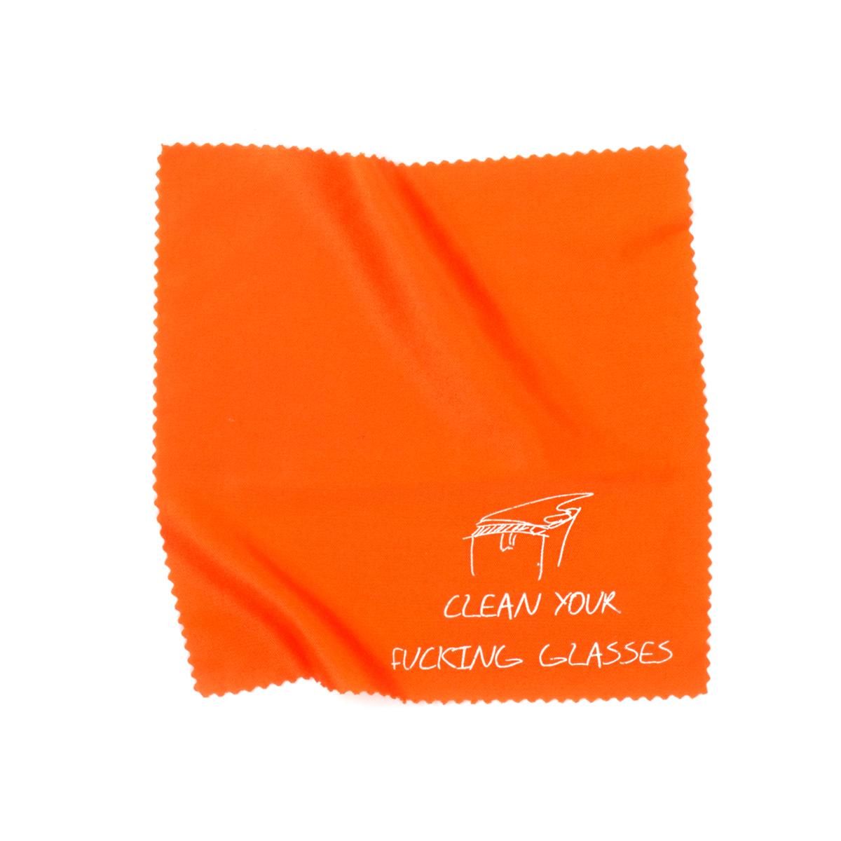 "6"" x 6"" Microfiber Cleaning Cloth - Orange"