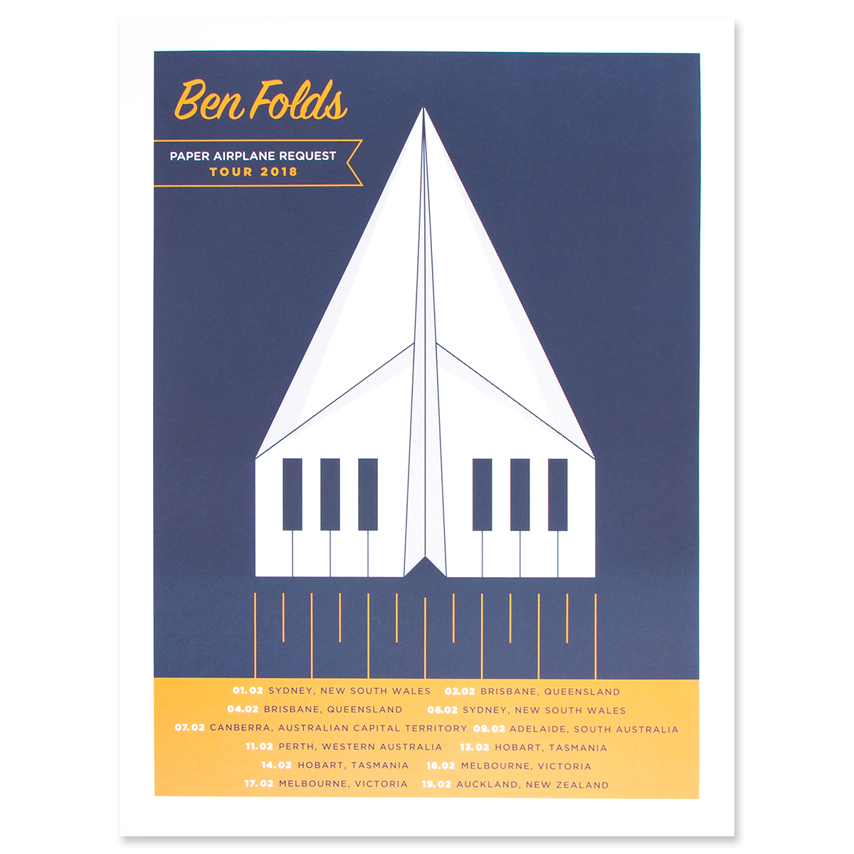 Paper Airplane 2018 Australian Tour Poster