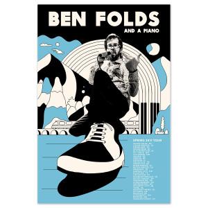 Ben Folds Spring 2017 Tour Poster