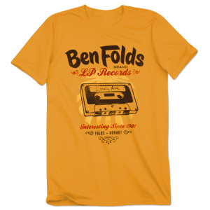 Ben Folds LP Records Yellow T