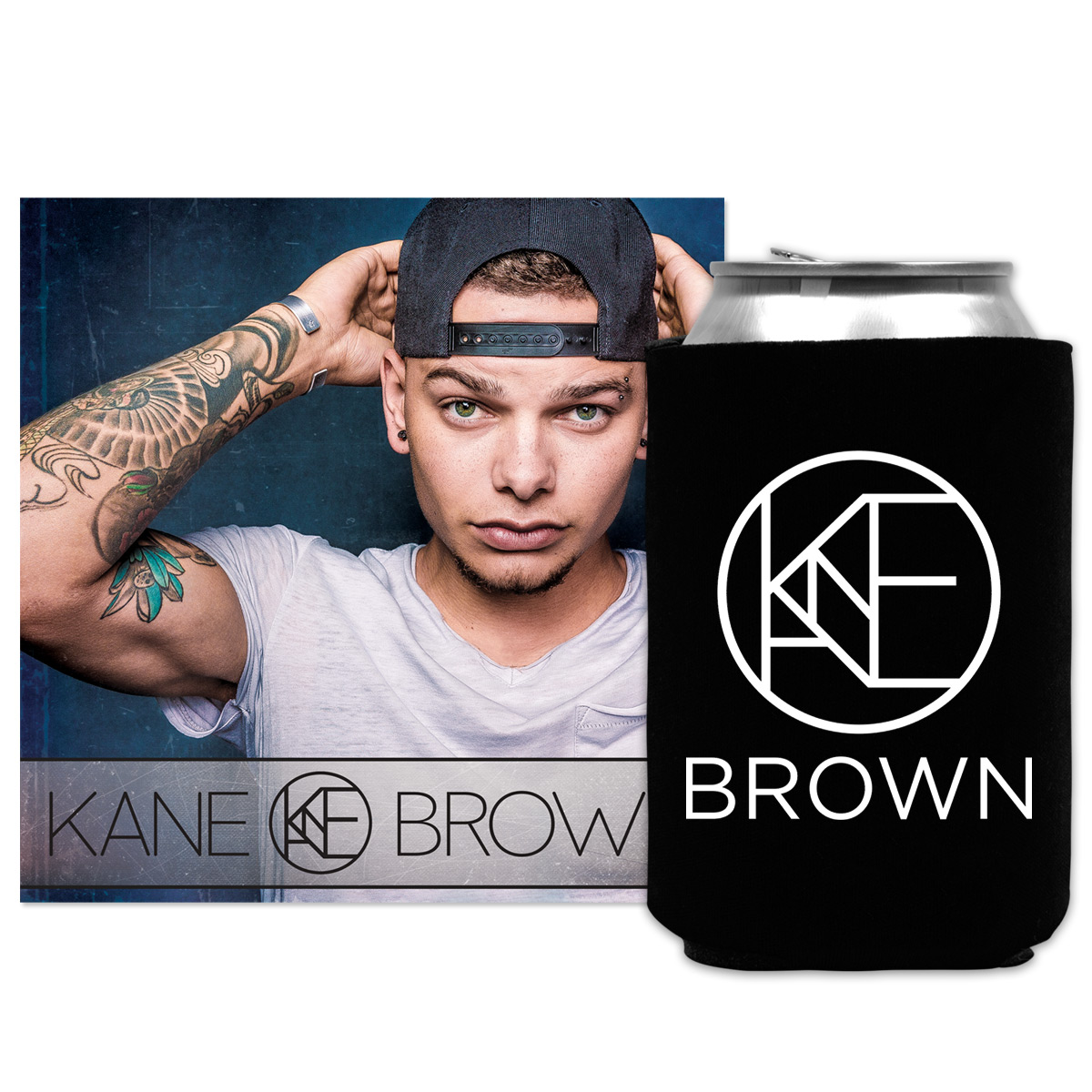 Kane Brown Deluxe Edition Kane Brown: Kane Brown Album + Koozie Bundle